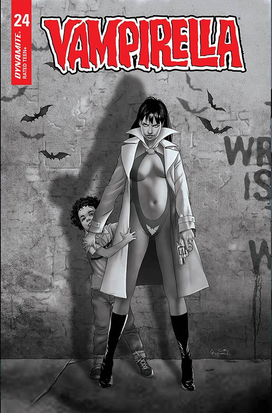 Vampirella Vol 8 #24 Cover G Incentive Ergun Gunduz Black & White Cover