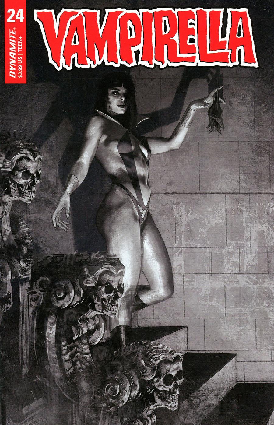 Vampirella Vol 8 #24 Cover I Incentive Marco Mastrazzo Black & White Cover