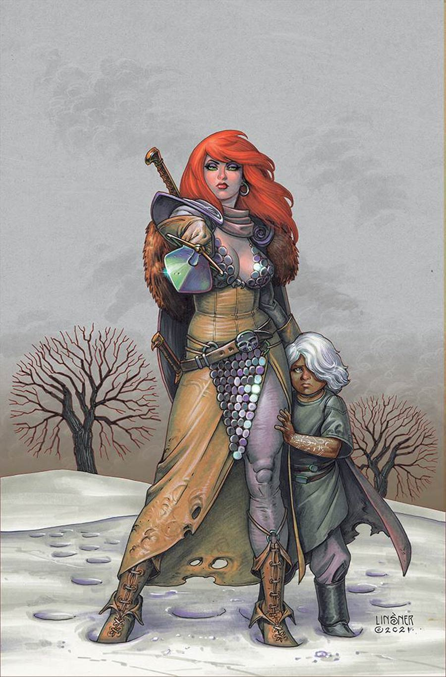 Red Sonja Vol 9 #1 Cover R Limited Edition Joseph Michael Linsner Virgin Cover