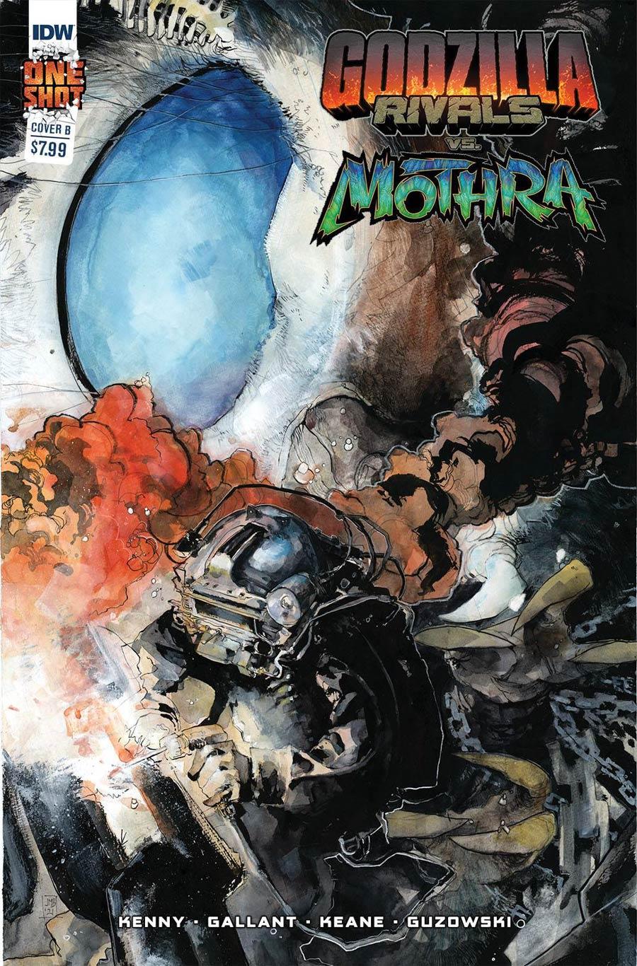 Godzilla Rivals vs Mothra #1 (One Shot) Cover B Incentive Jeffrey Veregge Variant Cover