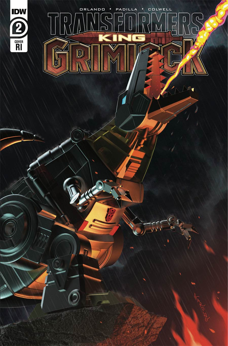 Transformers King Grimlock #2 Cover C Incentive Paul Harding Variant Cover