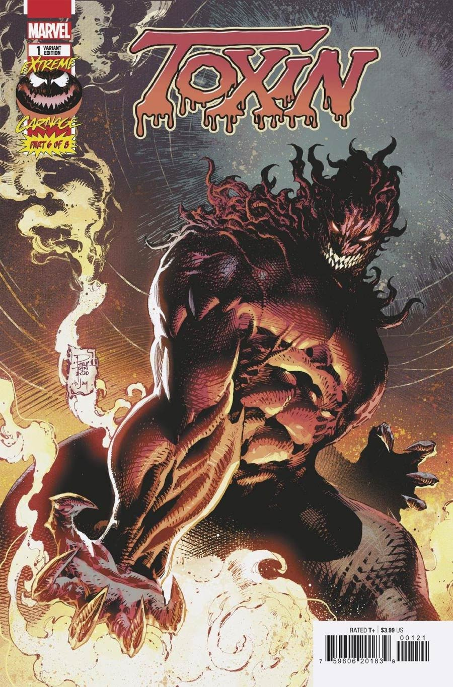 Extreme Carnage Toxin #1 (One Shot) Cover D Incentive Philip Tan Variant Cover