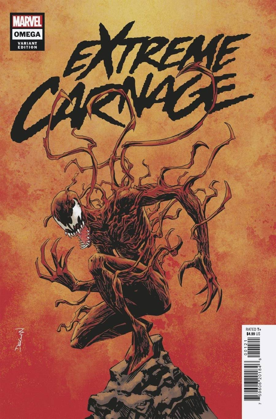 Extreme Carnage Omega #1 (One Shot) Cover F Incentive Declan Shalvey Variant Cover