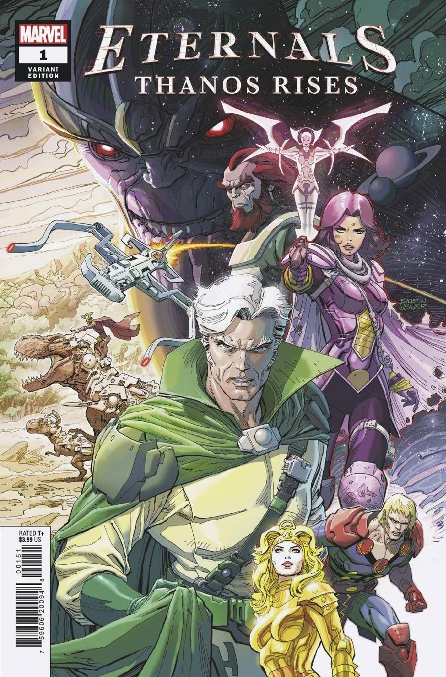 Eternals Thanos Rises #1 (One Shot) Cover E Incentive Dustin Weaver Variant Cover