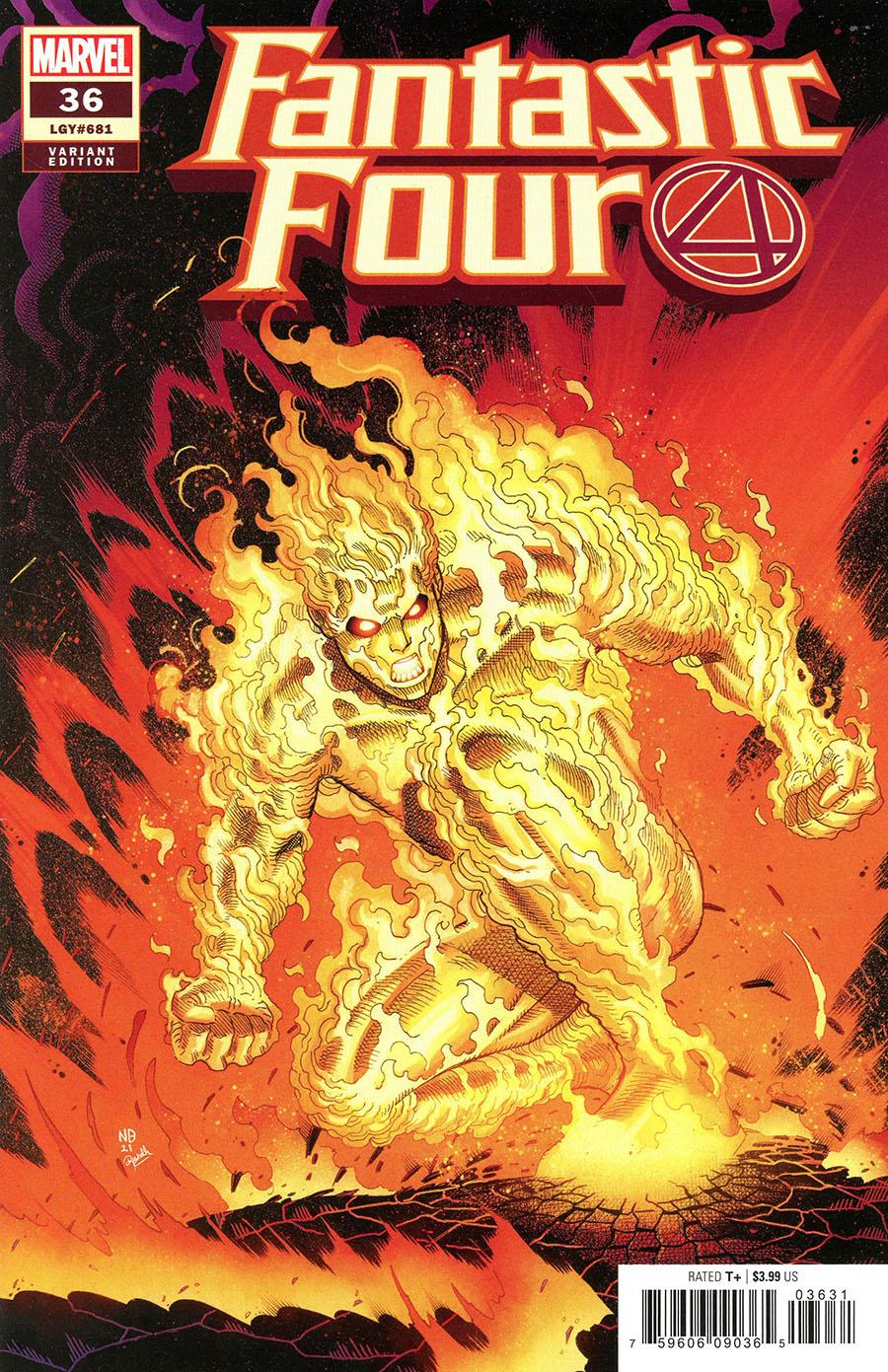 Fantastic Four Vol 6 #36 Cover D Incentive Nick Bradshaw Variant Cover
