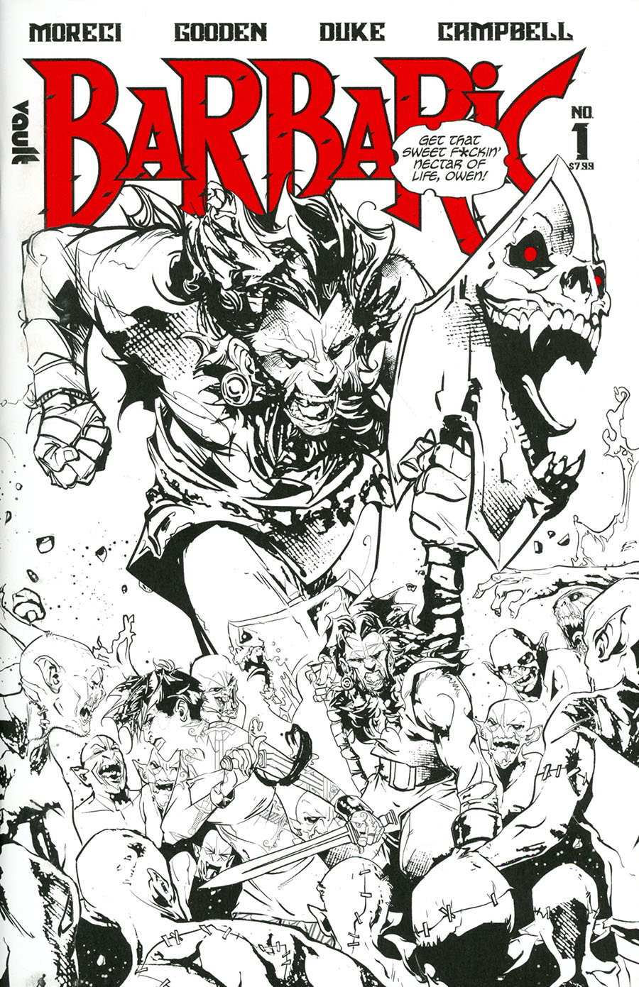 Barbaric Deluxe Black & White Edition #1 Cover A Regular Cover