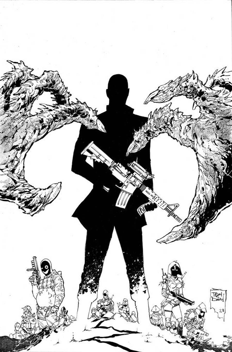 Nocterra #5 Cover E Incentive Tony S Daniel Black & White Cover