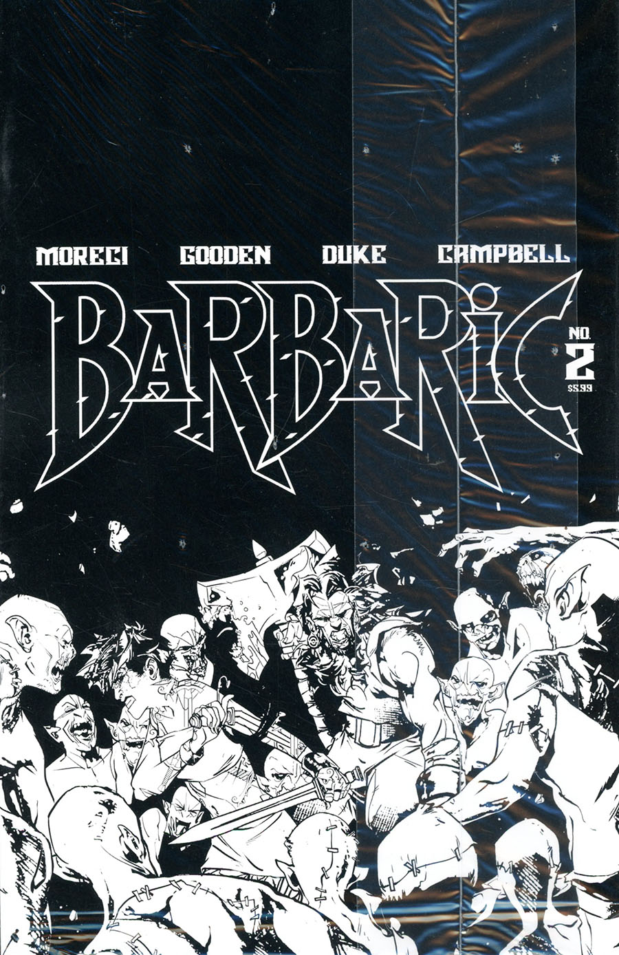 Barbaric #2 Cover C Variant Tim Seeley Black Bag Cover With Polybag