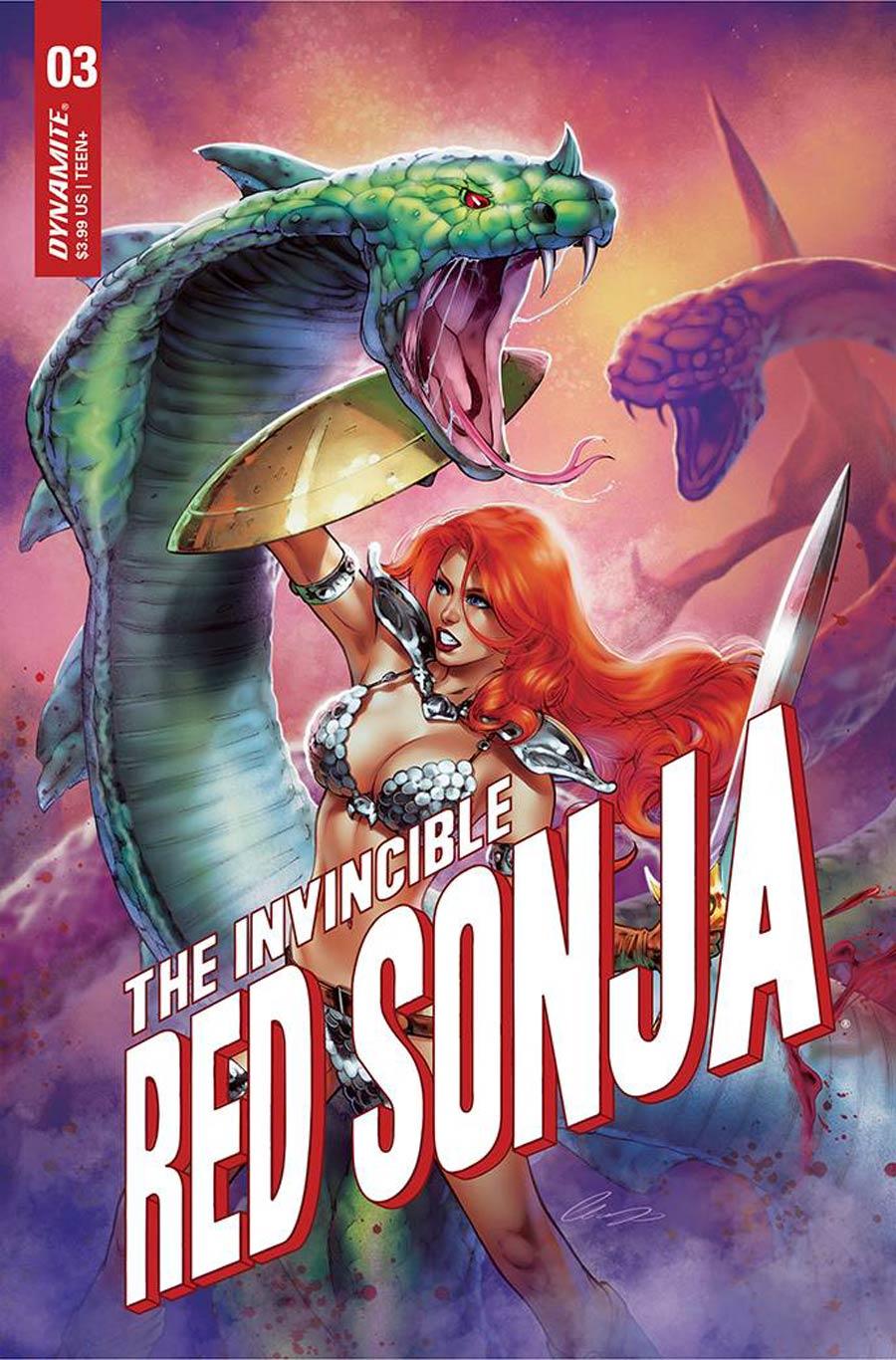 Invincible Red Sonja #3 Cover Q Variant Elias Chatzoudis Premium Cover