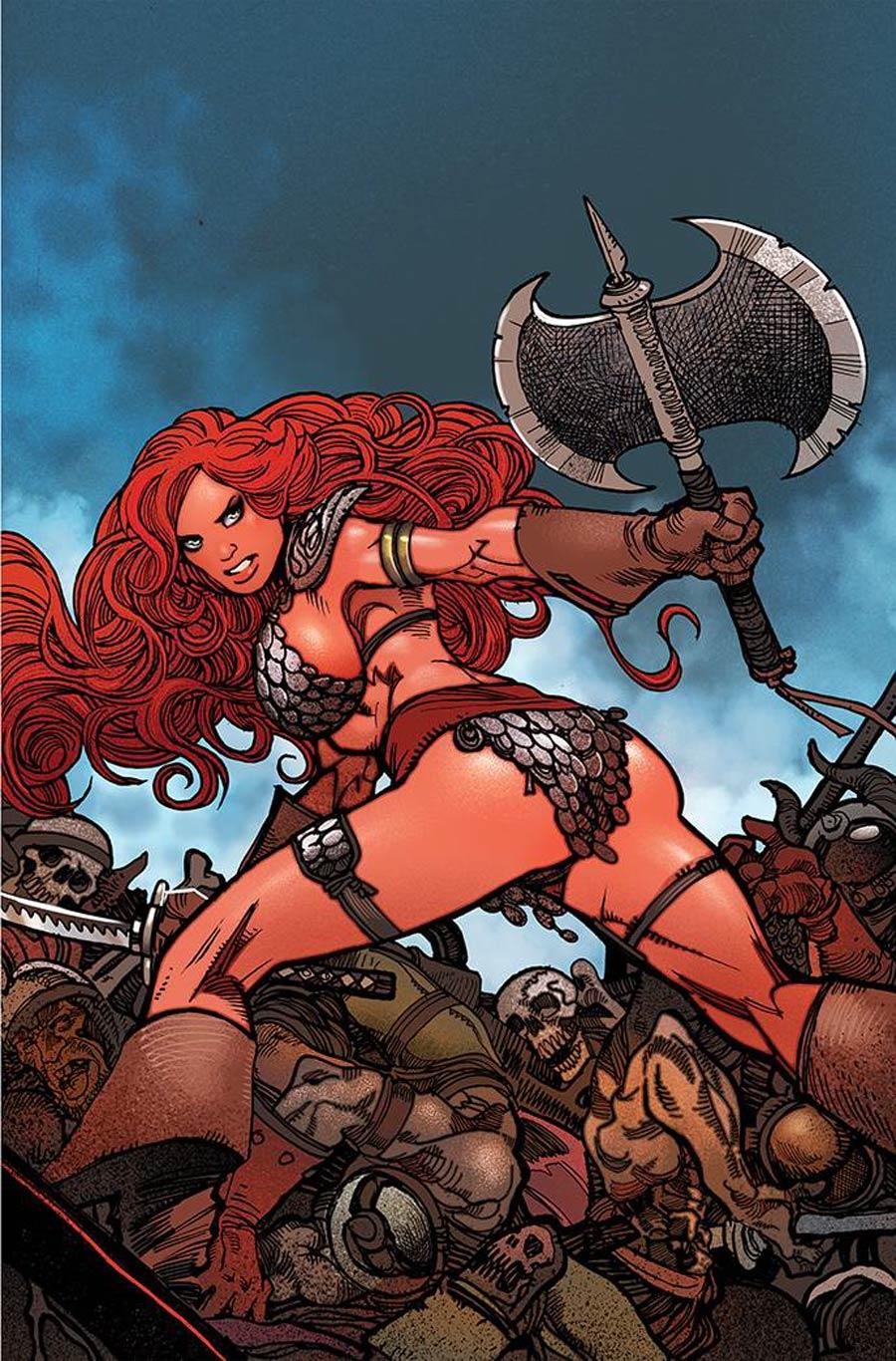 Invincible Red Sonja #3 Cover S Incentive Moritat Virgin Cover