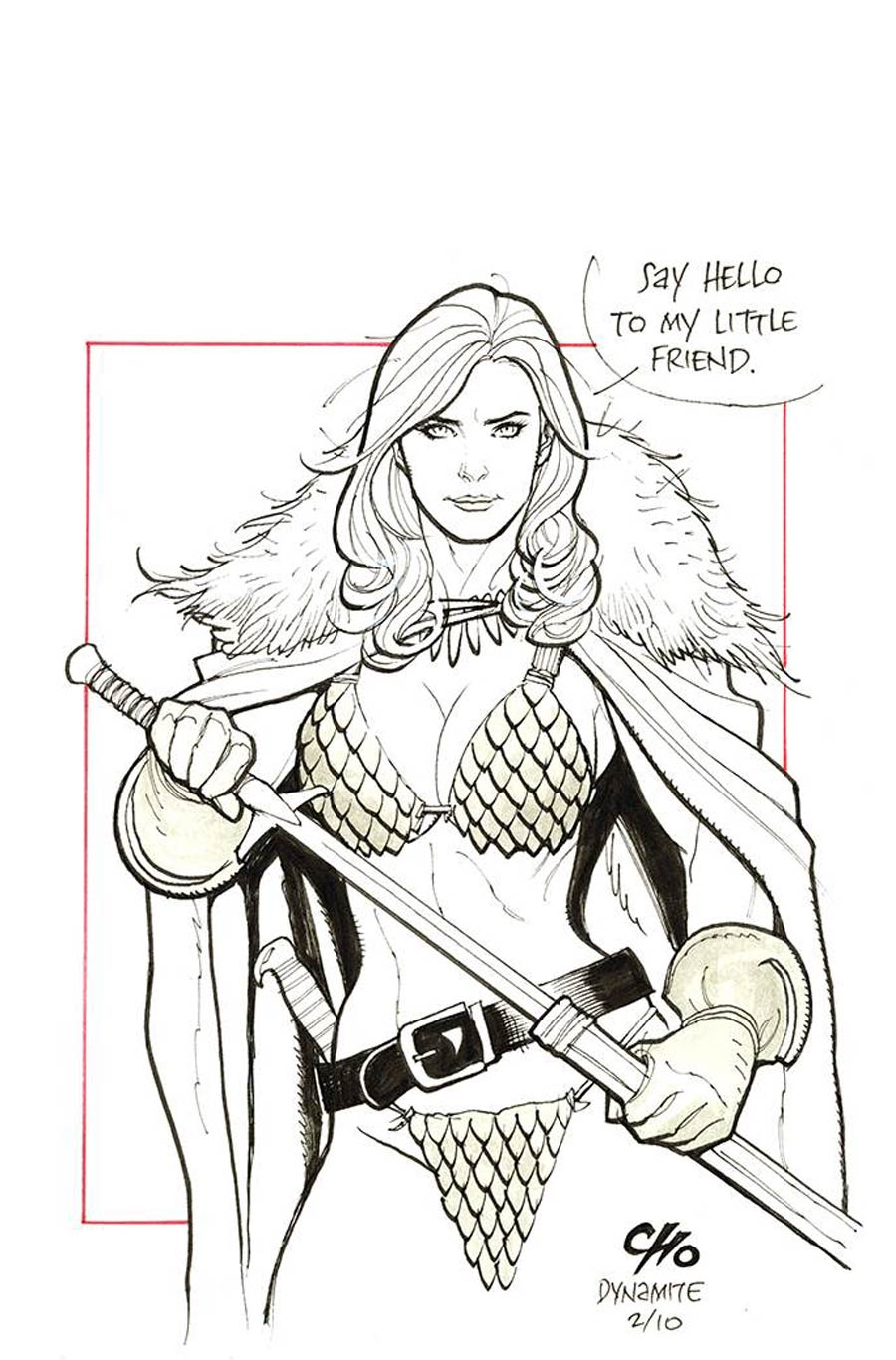 Invincible Red Sonja #3 Cover T Incentive Frank Cho Virgin Cover