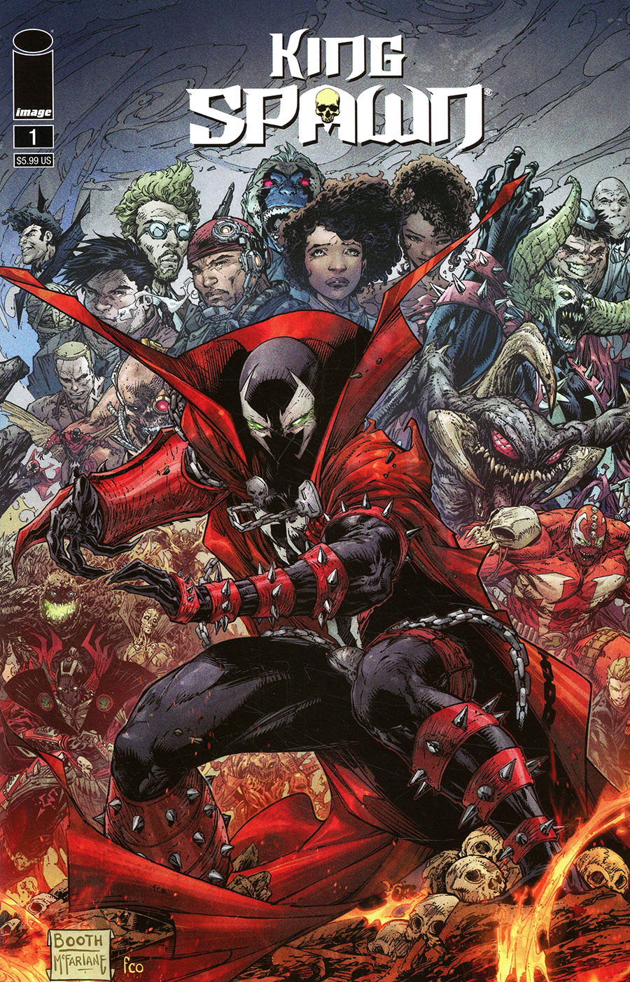 King Spawn #1 Cover F Variant Brett Booth Cover