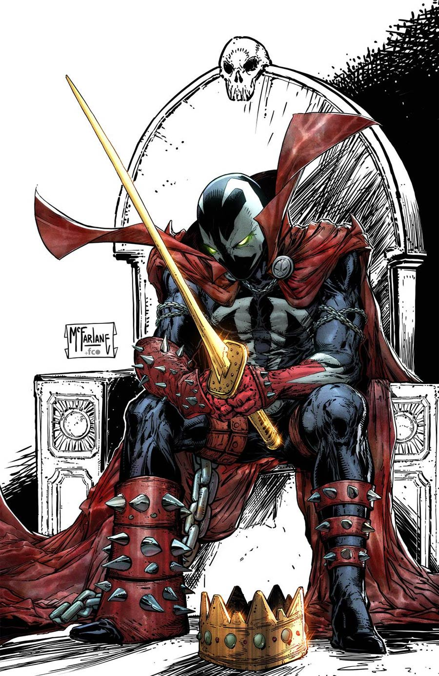 King Spawn #1 Cover I Incentive Signed By Todd McFarlane (Limit 1 Per Customer)