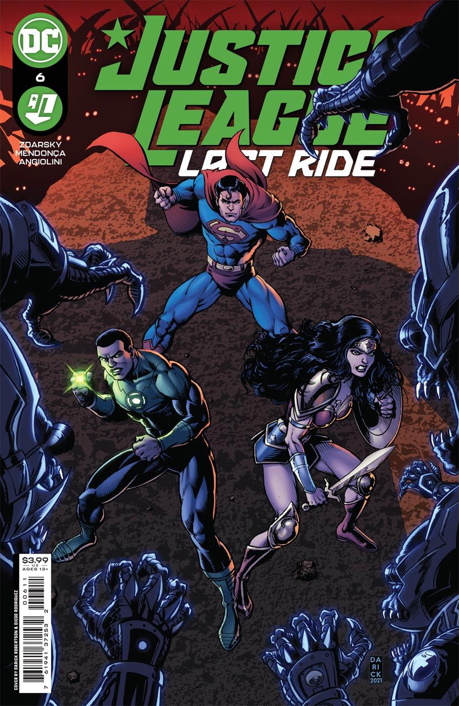 Justice League Last Ride #6 Cover A Regular Darick Robertson Cover