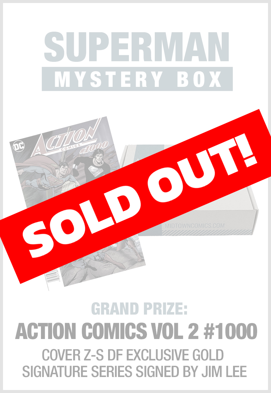 SOLD OUT - Midtown Comics Mystery Box - Superman (Purchase for a chance to win Action Comics #1000 DFE Wraparound Cover Gold Signature Series Signed B