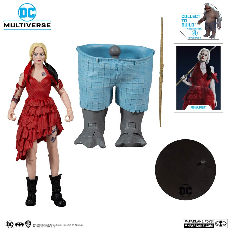 DC Collector Build-A-Figure Wave 5 The Suicide Squad Harley Quinn 7-Inch Scale Action Figure