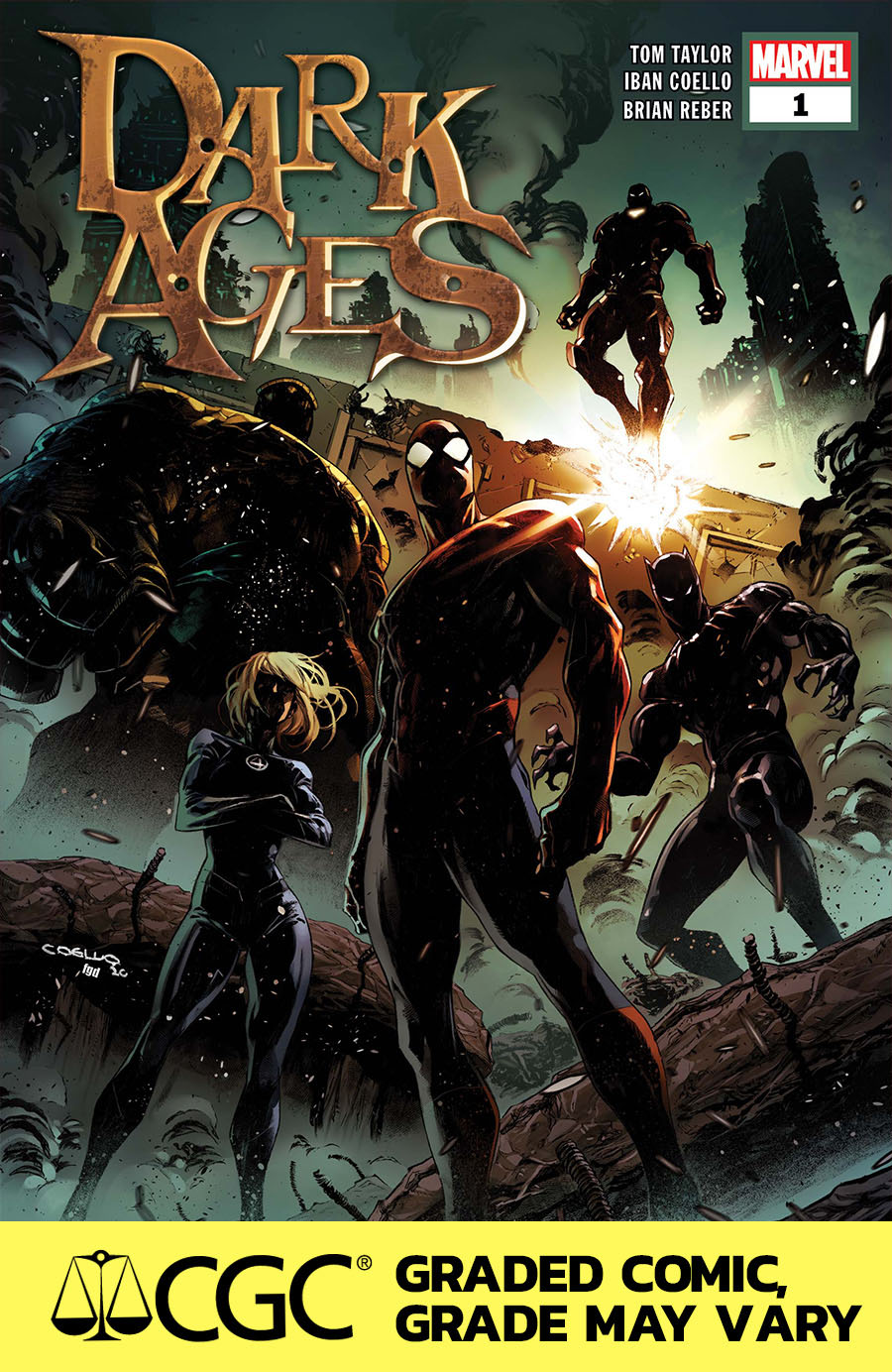 Dark Ages #1 Cover I DF CGC Graded 9.6 Or Higher