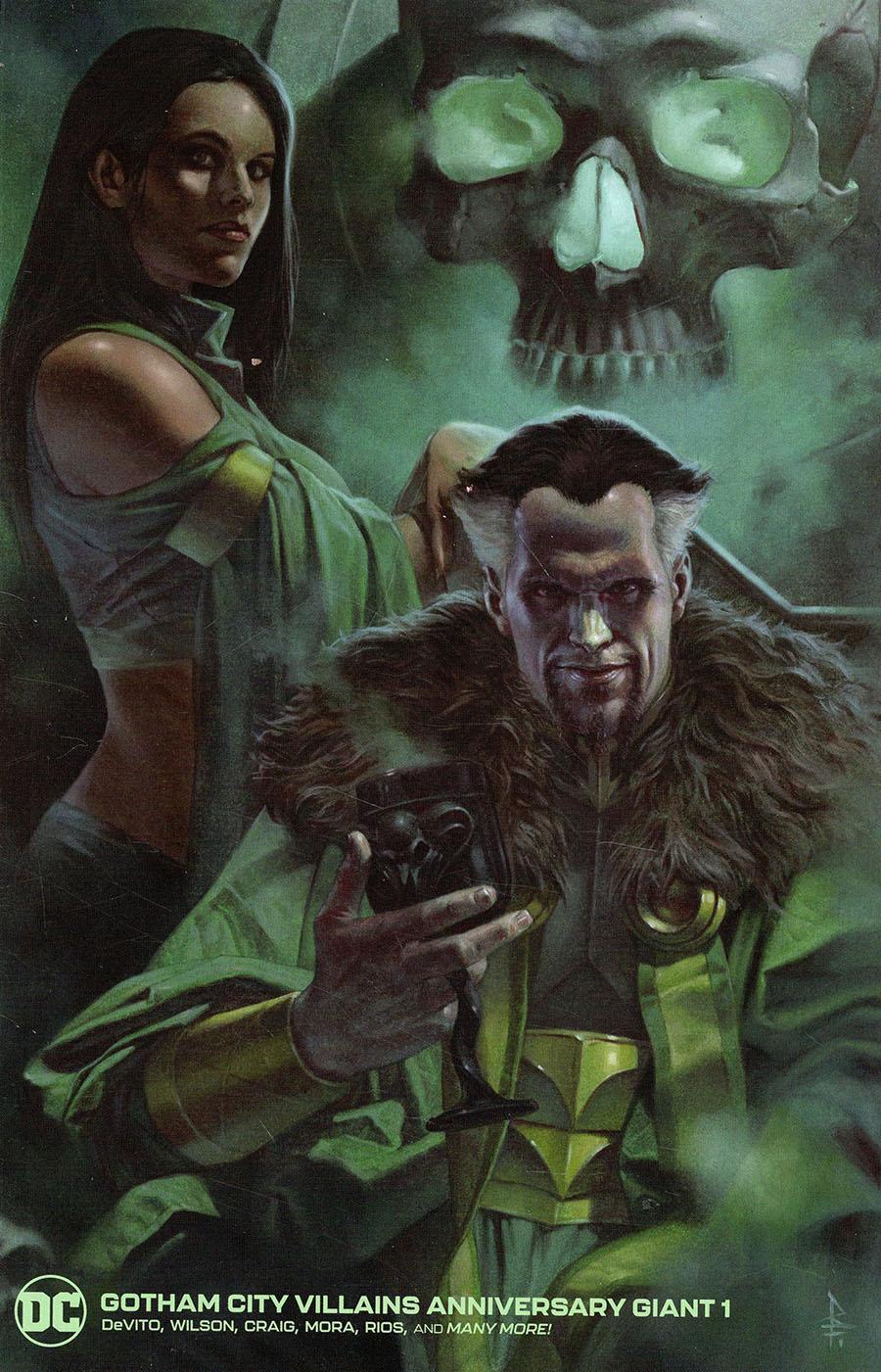 Gotham City Villains Anniversary Giant #1 (One Shot) Cover E Variant Riccardo Federici Ras Al Ghul And Talia Al Ghul Card Stock Cover