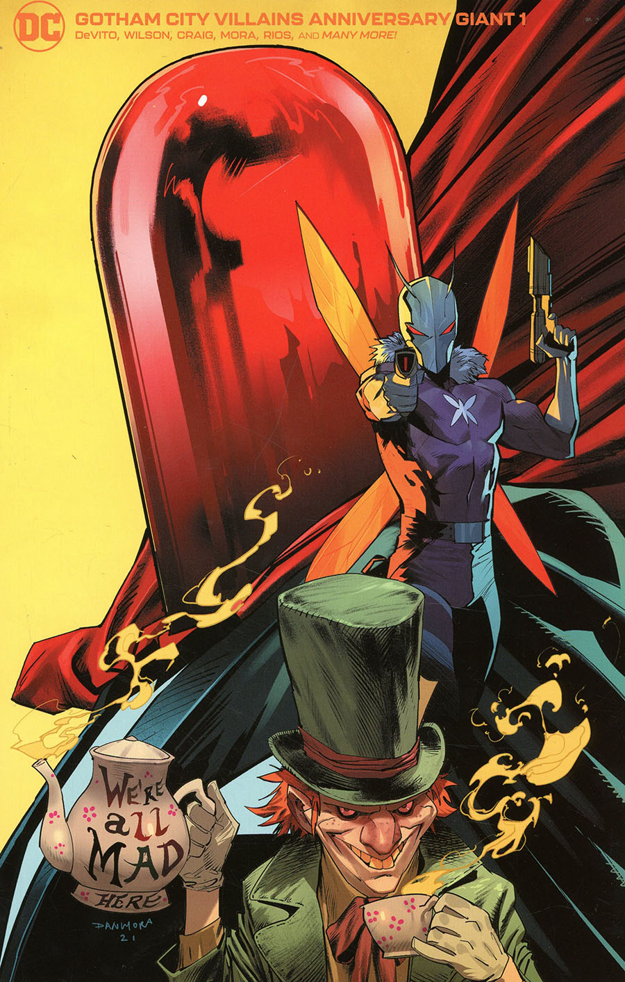 Gotham City Villains Anniversary Giant #1 (One Shot) Cover F Variant Dan Mora Mad Hatter Killer Moth Red Hood Card Stock Cover