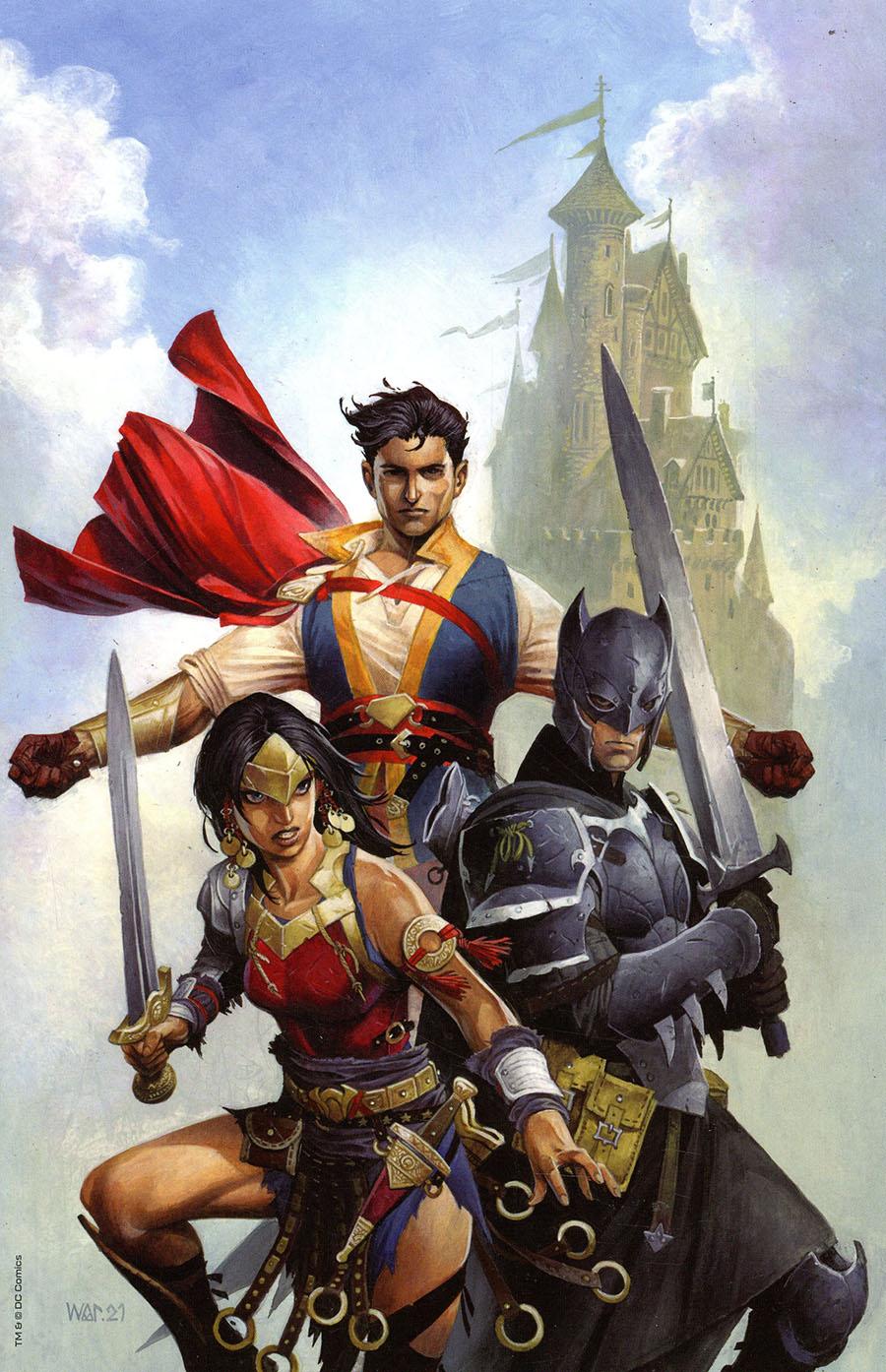 Dark Knights Of Steel #1 Cover C Variant Wayne Reynolds Team Card Stock Cover