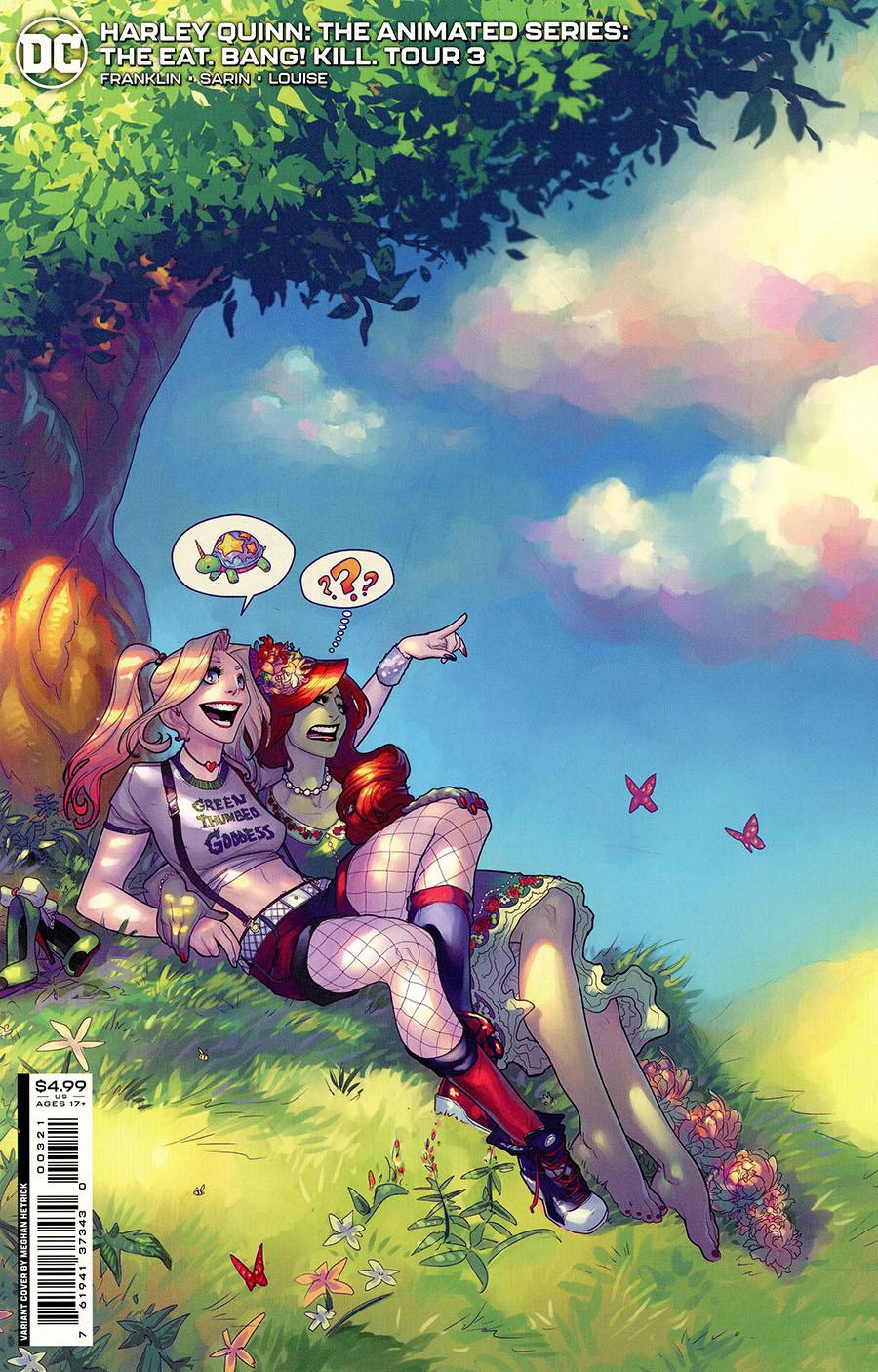 Harley Quinn The Animated Series The Eat Bang Kill Tour #3 Cover B Variant Meghan Hetrick Card Stock Cover