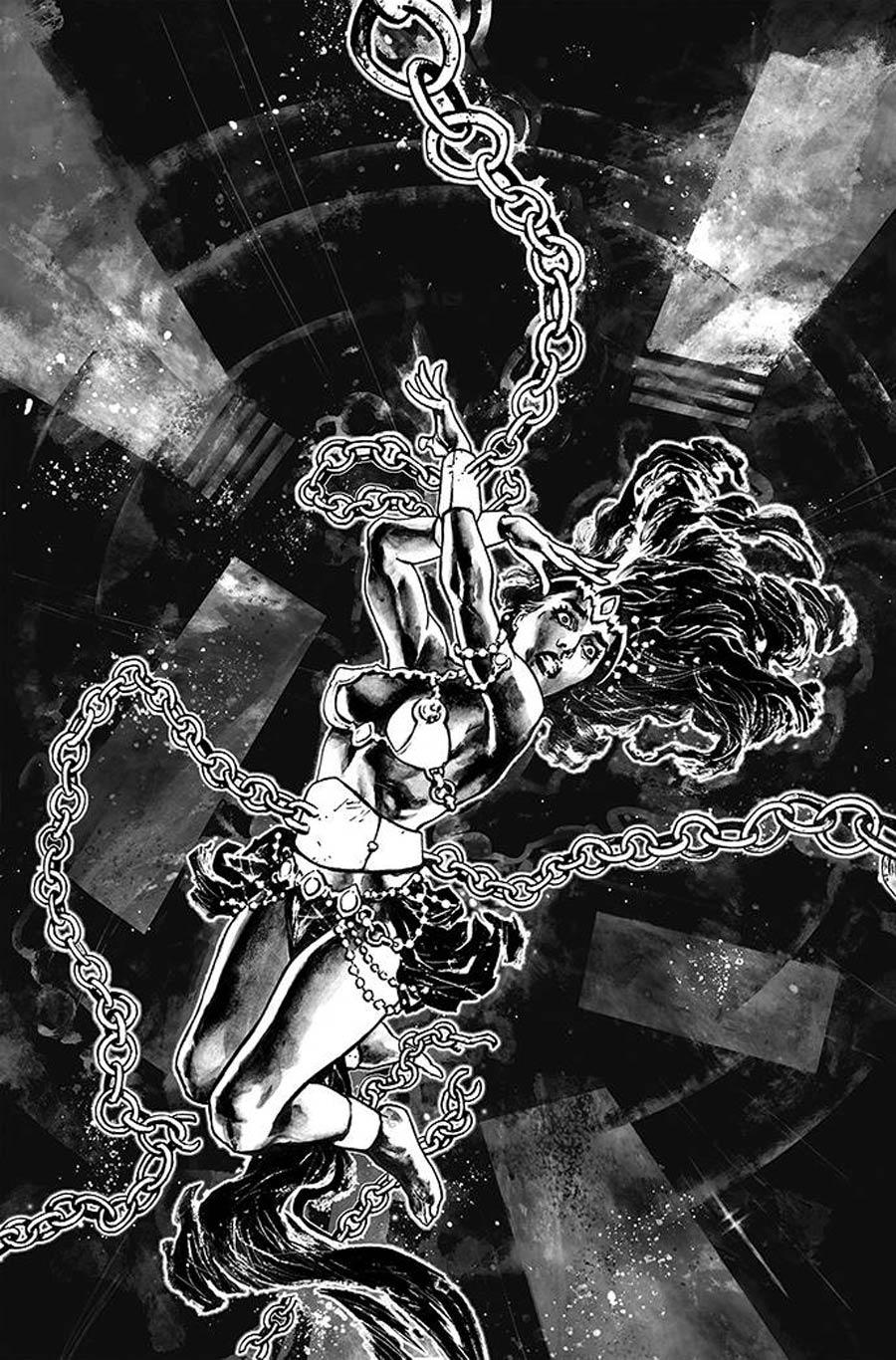 Dejah Thoris Versus John Carter Of Mars #2 Cover O Incentive Sebastian Fiumara Black & White Virgin Cover