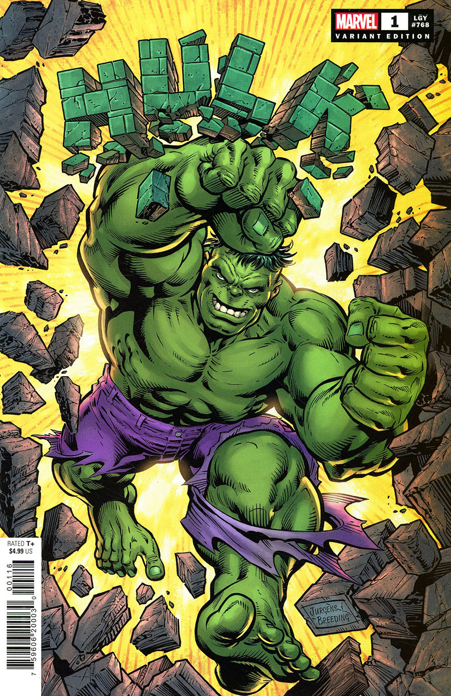 Hulk Vol 5 #1 Cover E Variant Dan Jurgens Cover