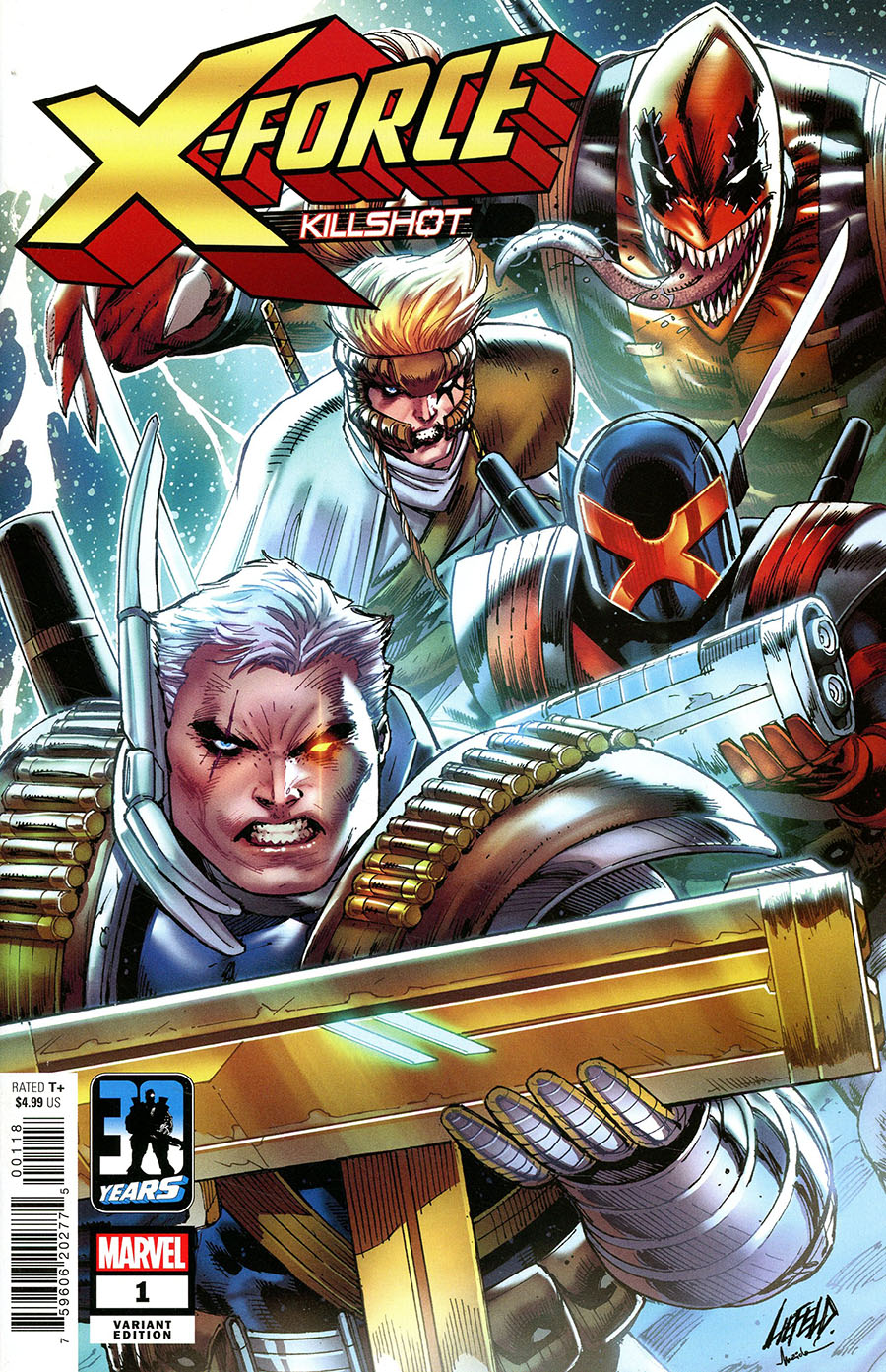 X-Force Killshot Anniversary Special #1 (One Shot) Cover B Variant Rob Liefeld Cover