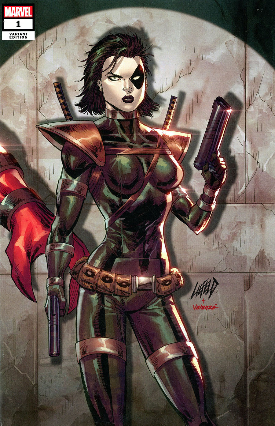 X-Force Killshot Anniversary Special #1 (One Shot) Cover G Variant Rob Liefeld Connecting E Domino Cover