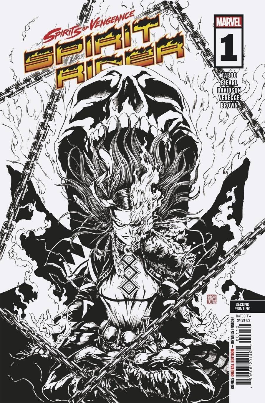 Spirits Of Vengeance Spirit Rider #1 (One Shot) Cover D 2nd Ptg Variant Cover