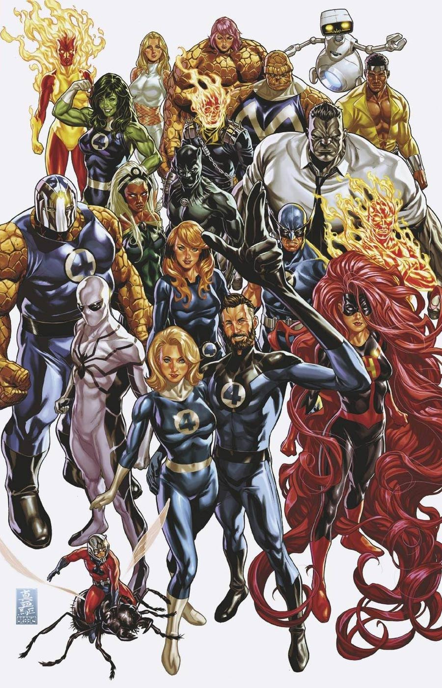 Fantastic Four Vol 6 #35 Cover H Incentive Mark Brooks Virgin Cover
