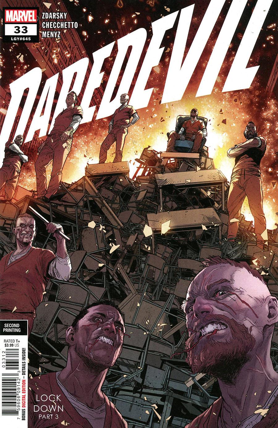 Daredevil Vol 6 #33 Cover C 2nd Ptg Variant Cover