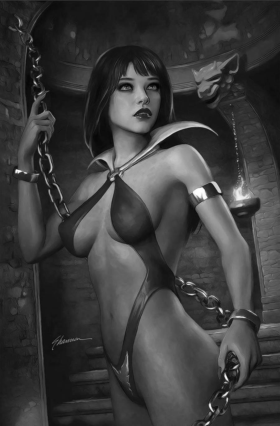 Vampirella Vol 8 #24 Cover R Incentive Shannon Maer Black & White Virgin Cover