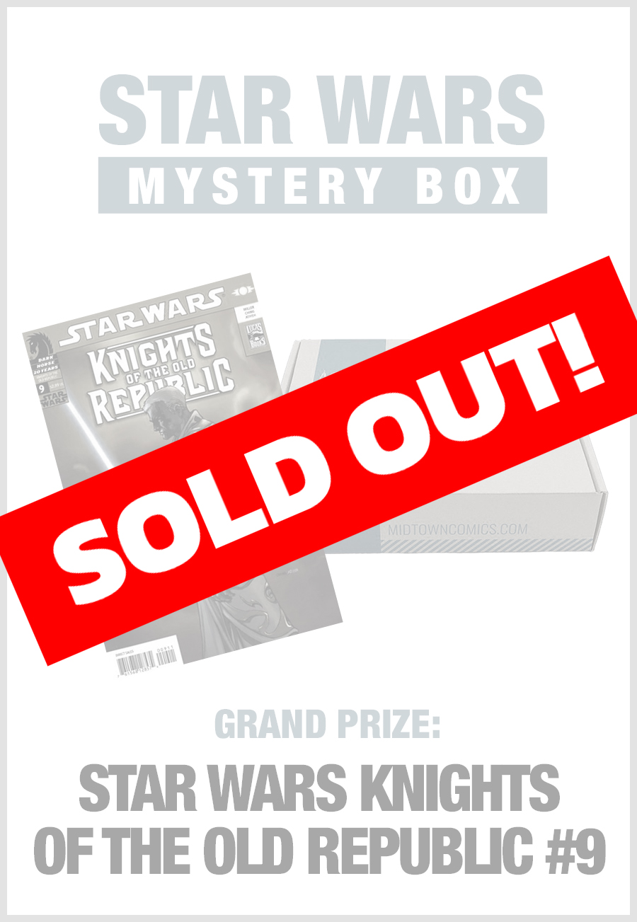 SOLD OUT - Midtown Comics Mystery Box - Star Wars (Purchase for a chance to win Star Wars Knights of the Old Republic #9)