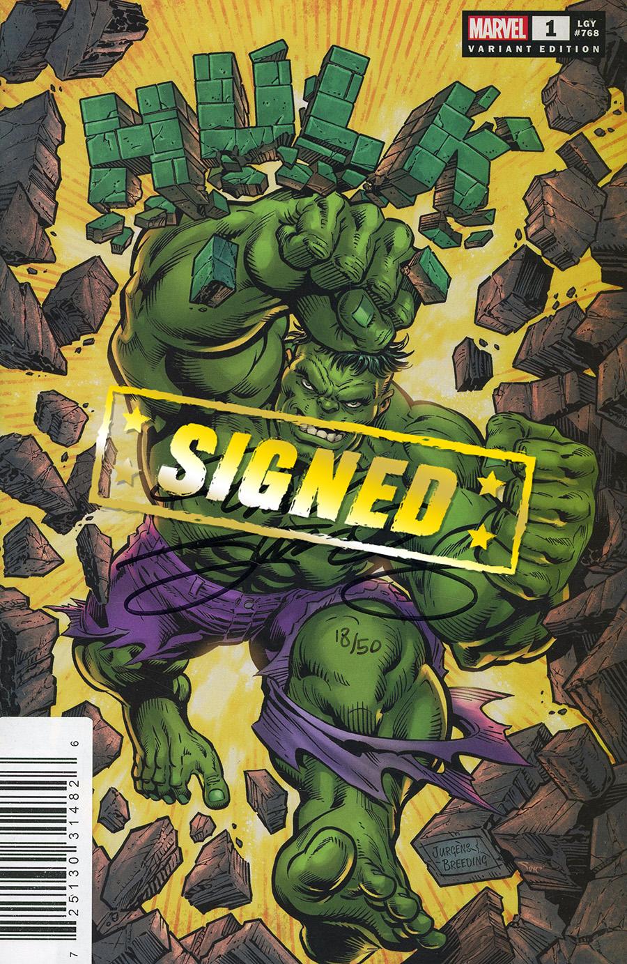 Hulk Vol 5 #1 Cover N DF Dan Jurgens Variant Cover Signed By Dan Jurgens