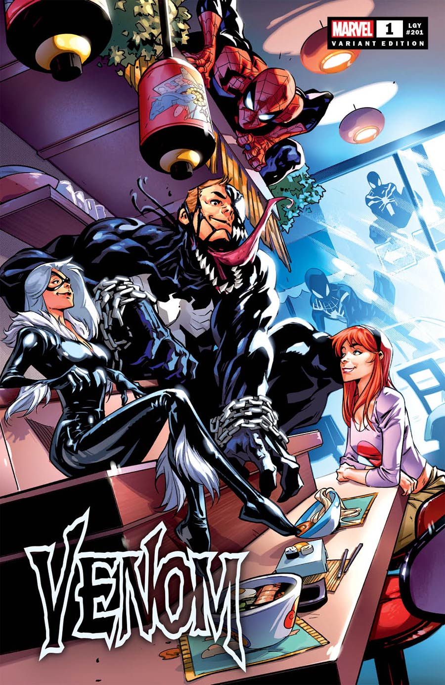 Venom Vol 5 #1  Midtown Exclusive Francesco Manna Variant Cover