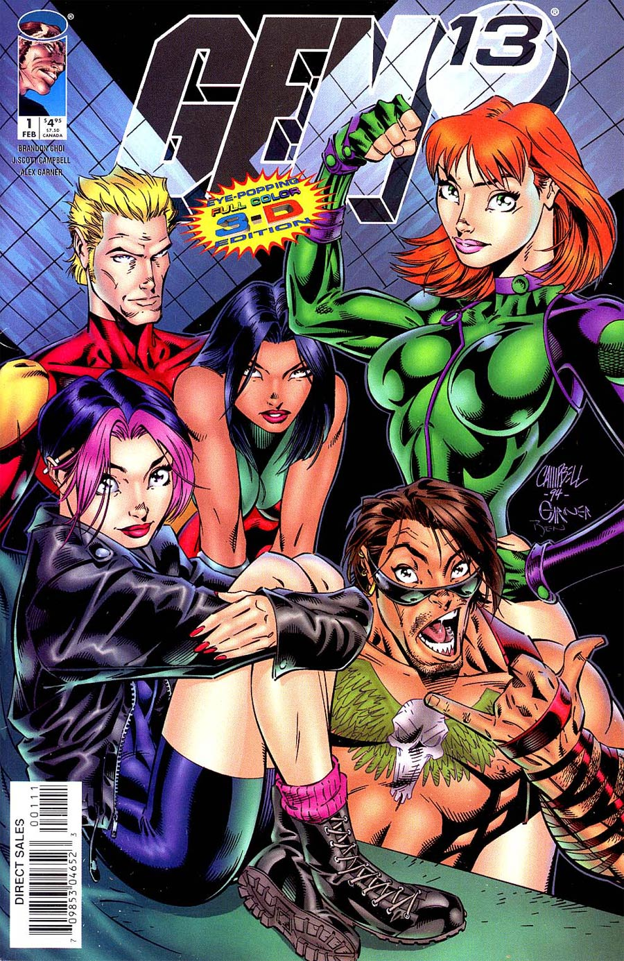 Gen 13 3-D #1 Cover A With Glasses