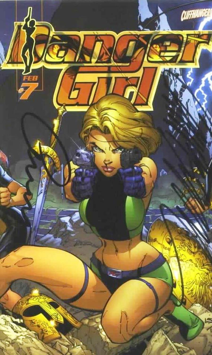 Danger Girl #7 Cover B DF Signed