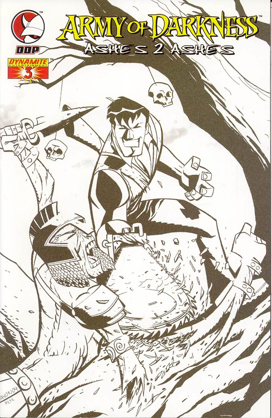 Army Of Darkness Ashes 2 Ashes #3 Cover F Incentive Oeming Sketch Cover