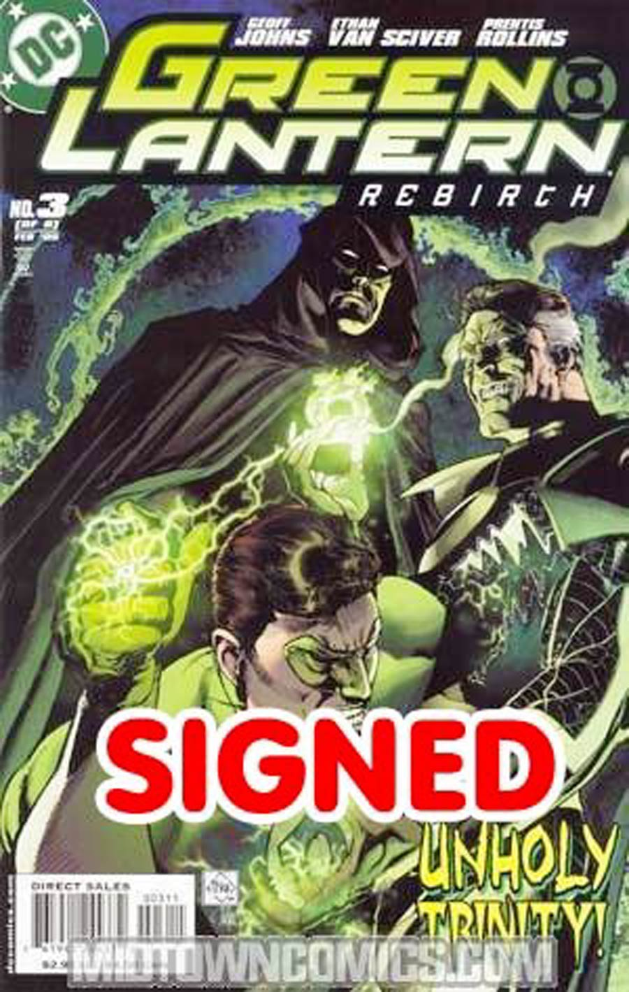 Green Lantern Rebirth #3 Cover C DF Signed By Ethan Van Sciver