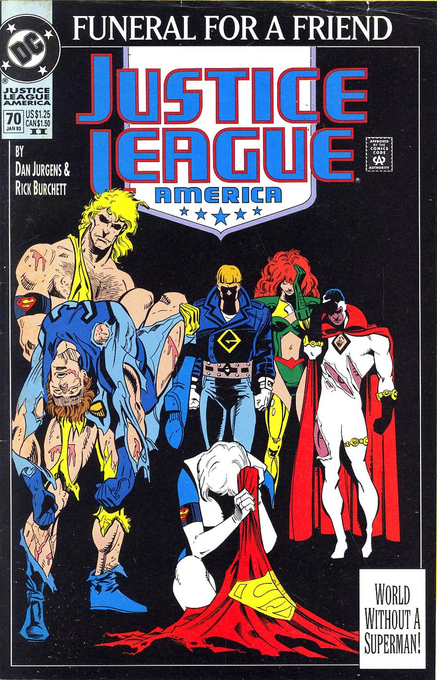 Justice League America #70 Cover B 2nd Ptg Black Cover