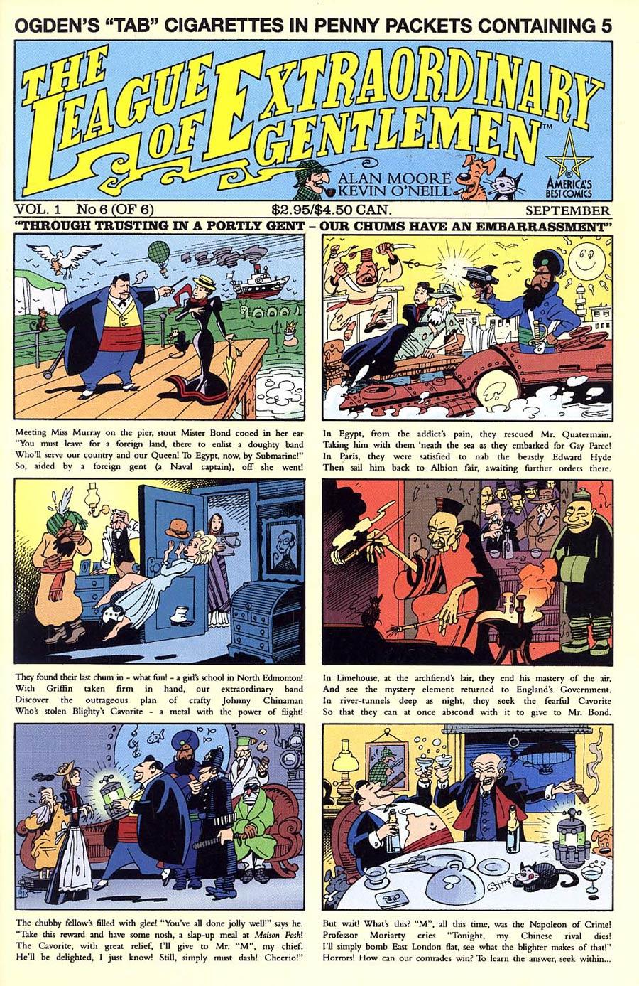 League Of Extraordinary Gentlemen Vol 1 #6