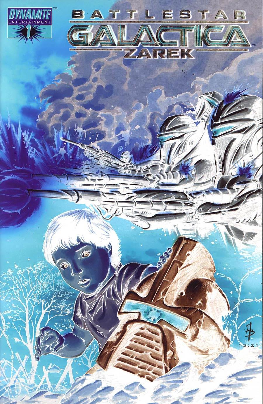 Battlestar Galactica Zarek #1 Cover D Incentive Batista Negative Cover