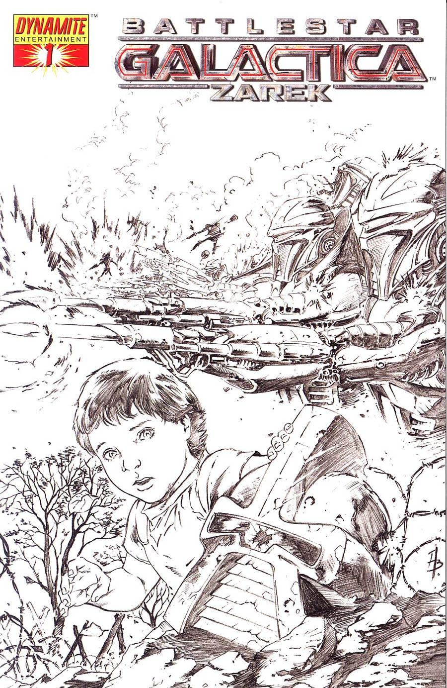 Battlestar Galactica Zarek #1 Cover C Incentive Batista Sketch Cover