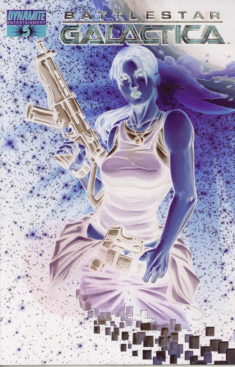 Battlestar Galactica Vol 4 #5 Cover F Incentive Nigel Raynor Negative Cover