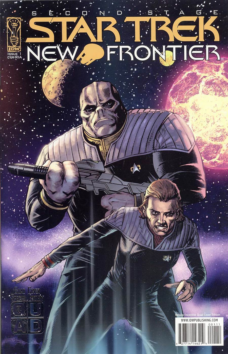 Star Trek New Frontier #1 Incentive Quad Variant Cover
