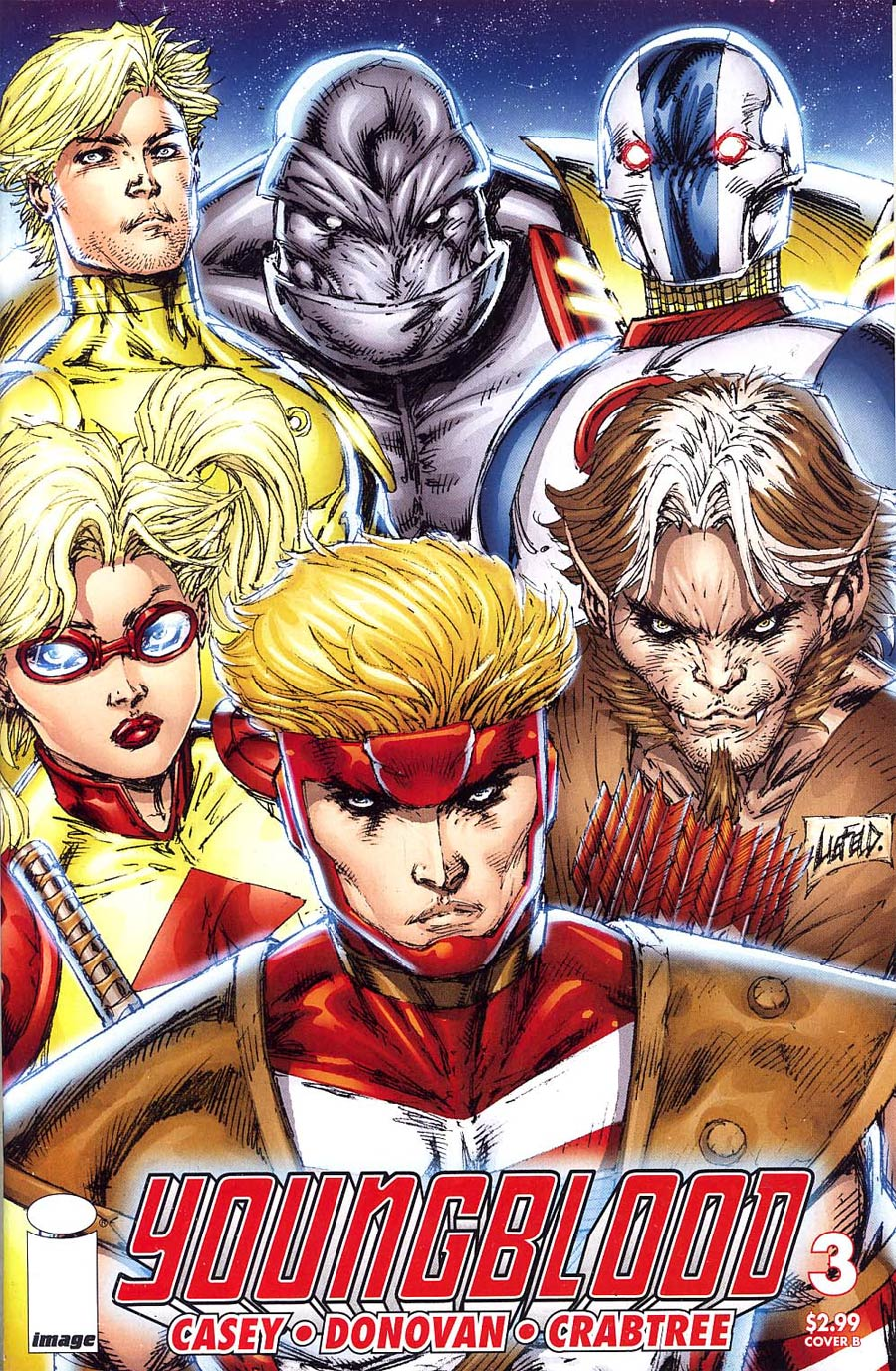 Youngblood Vol 4 #3 Rob Liefeld Cover
