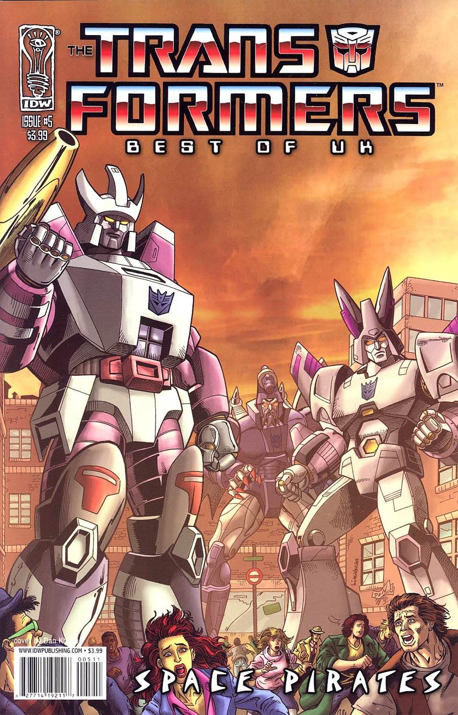 Transformers Best Of UK Space Pirates #5 Regular Dan Khanna Cover