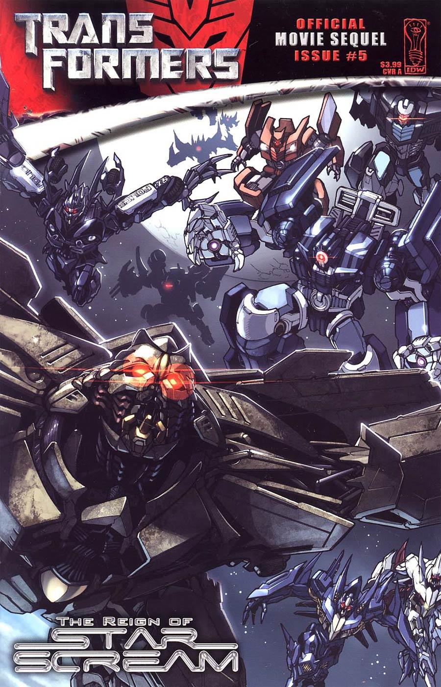 Transformers Movie Sequel Reign Of Starscream #5 Cover A Regular Alex Milne Cover