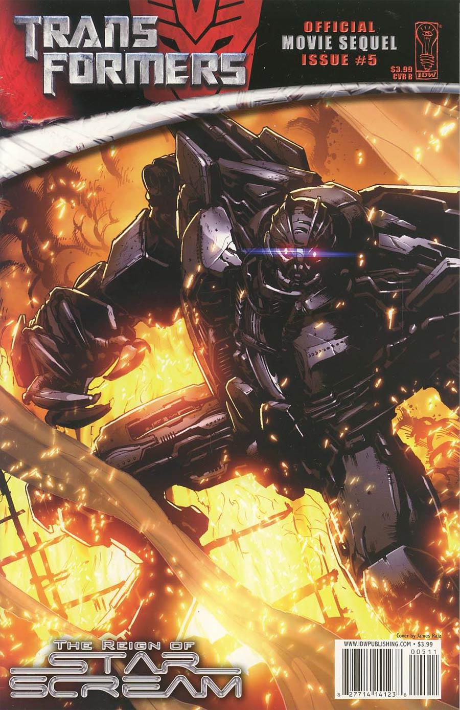 Transformers Movie Sequel Reign Of Starscream #5 Cover B Regular James Raiz Cover